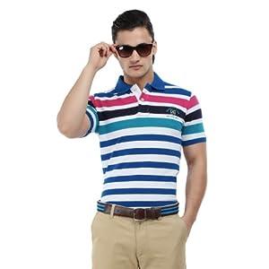 Proline Men Multi-Coloured Striped Polo T-shirt