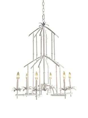 Shades of Light Bamboo Tower Chandelier - 6 Light