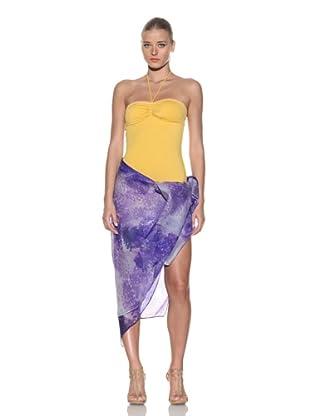 Chris Benz Women's Signature Floral Sarong (Purple)
