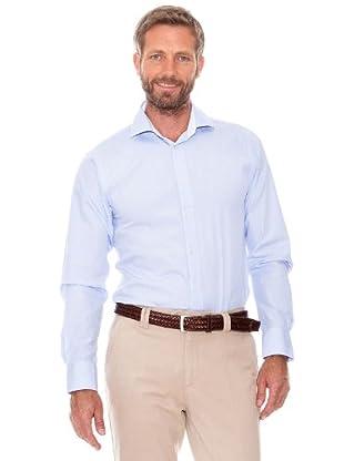 Cortefiel Camisa Micro Raya (Azul)