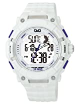 Q&Q Analog-Digital White Dial Men's Watch - GW80J005Y