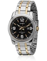 Enticer Mtp-1314Sg-1Avdf-A777 Silver-Gold/Black Analog Watch