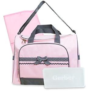 Gerber Duffel Style Diaper Tote Bag Pink