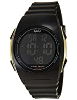 Q&Q Regular Digital Black Dial Men's Watch - M130J002Y