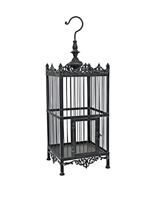 Three Hands Acanthus Birdcage, Black