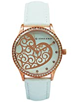 Giordano Analog White Dial Women's Watch - A2009-05