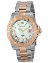 Invicta Watches, Women's Angel White MOP Dial Stainless Steel & 18K Rose Gold Plated Stainless Steel, Model 14367