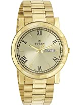 Titan Analog Gold Dial Men's Watch - 1644YM03