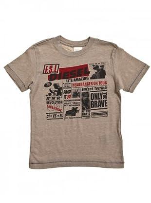Diesel Kid T-Shirt Teery (camel/rot/schwarz)