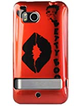 HTC 2D Protector Cover for HTC Incredible HD 6400 B483 - Retail Packaging - Red/Black