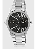 P6868-N Silver/Black Analog Watch Giordano