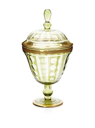 Opulent Antique-Style Cut-Glass Jar