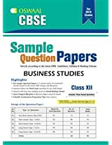 Oswaal CBSE Sample Question Papers: Business Studies for Class 12