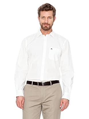 Cortefiel Unifarbenes Hemd (Weiß)