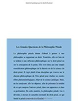 Les Grandes Questions De La Philosophie Penale