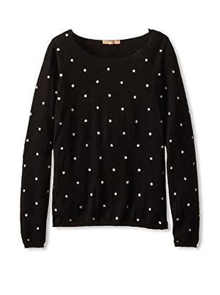 Kier & J Women's Glitter Dot Sweater
