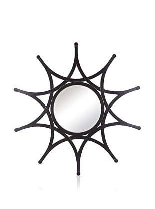 Cooper Classics Eva Mirror, Distressed Black