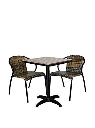 Outdoor Pacific 2-Chair Bistro Set, Dark Coffee