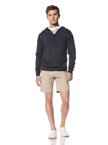 Standard Issue by Hyden Yoo Men's Huffer Hoodie (Navy)