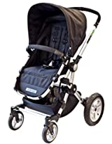 guzzie+Guss Deluxe Full Sized Stroller with Bassinette,  Obsidian (Discontinued by Manufacturer)