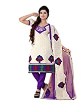 FadAttire Embroidered Chandheri Suit-White-ACSA01