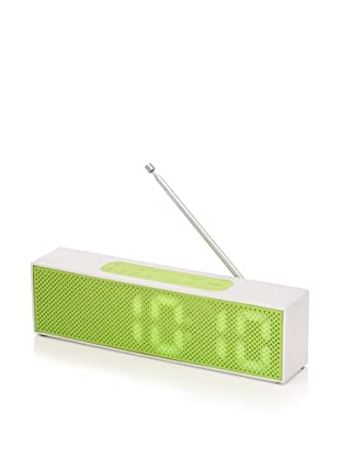 Lexon Titanium LED Clock Radio, Green