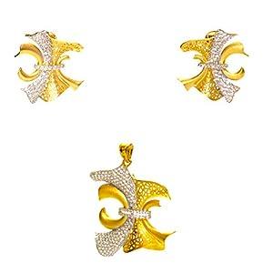 Daamak Jewellery Artistic Yellow Gold Pendant Set jewellery Set