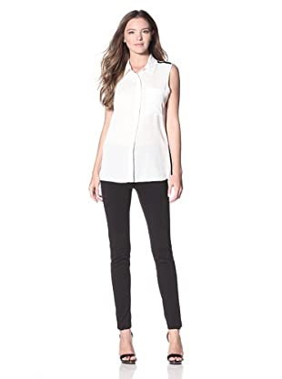 Calvin Klein Women's Sleeveless Blouse (Birch)