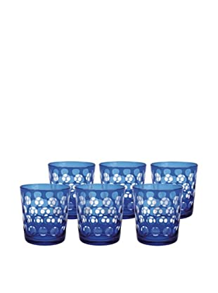 Melrose Rock Glass, Blue, Set of 6