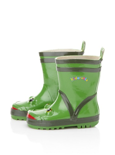 Kidorable Frog Rain Boot (Toddler/Little Kid) (Green)