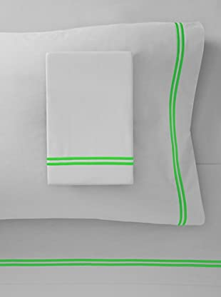 Mason Street Textiles Two Cord Sheet Set (Steel/Neon Green)