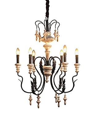 CDI Furniture Classical Iron & Wood Chandelier