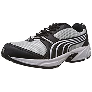 Puma Men's Typhoon 3.5 Black and Grey Mesh Running Shoes - 8 UK/India (42 EU)