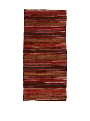 Design Community By Loomier Teppich Kilim Caucasico dunkelrot/schwarz 158 x 338 cm