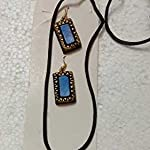Terracotta hand painted daily wearable necklace set