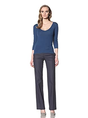 Loro Piana Women's Cashmere V-Neck Sweater (Navy)