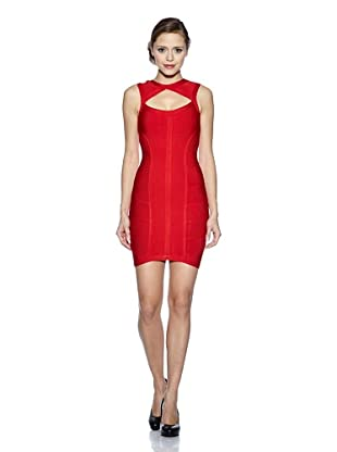 Corizzi & Absolu Vestido Abertura Escote Cóctel (Rojo)