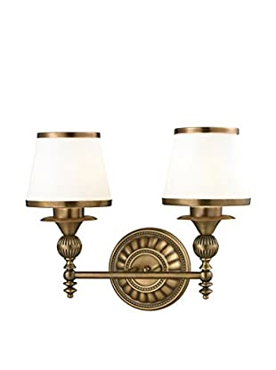 Artistic Lighting Smithfield 2-Light LED Sconce, Aged Brass