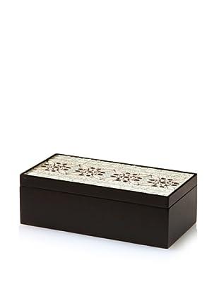 Handmade Wood & Paper Quilling Box, Black/Grey/White