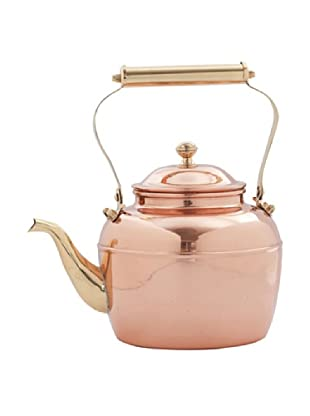 Old Dutch International 2.5-Qt. Solid Copper Teakettle with Brass Handle