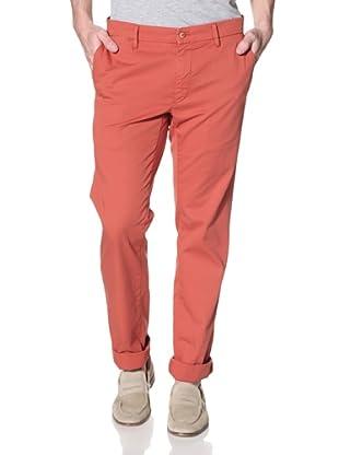 Mason's Men's NY Roso Flat-Front Pant (Brick)