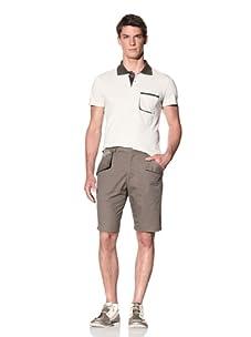 D by D Men's Classic Shorts with Pocket Detail (Khaki)