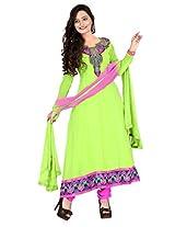 Vardhamn Women's SAKH1 Liril Georgette Unstitched salwar suit dress material