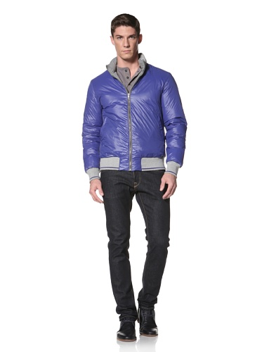 LOVE Moschino Men's Reversible Down Jacket (Grey/Blue)