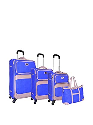 Adrienne Vittadini Stingray 4-Pc Luggage Set, Royal