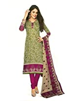 Shree Ganesh Clothing Women's Cotton Salwar Kameez Dress Material (sgs- 218 _Beige, Blue)
