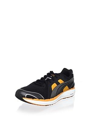 Puma Men's Faas 550 NM Running Shoe (Black/Silver/Orange)