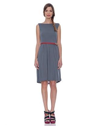 SIYU Kleid Basic Ärmellos (Blau)