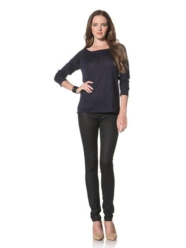 Twenty Tees Women's Long Sleeve Top (Mystery Navy)