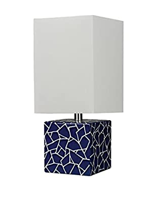 Artistic Lighting Ceramic Cube Table Lamp